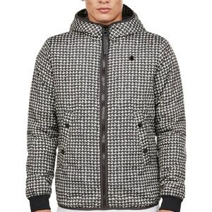 New Men's G-Star Raw Houndstooth Hooded Jacket XXL